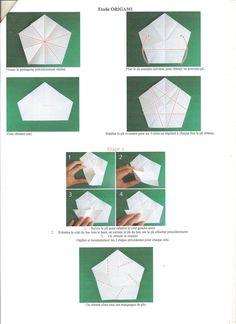 Origami Le des étoiles de noël en origami avec le tuto c des bricoles