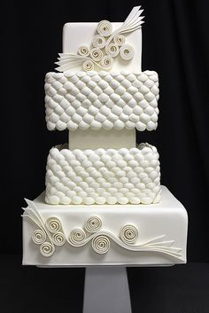 Tim's quill work wedding cake | Flickr - Photo Sharing!