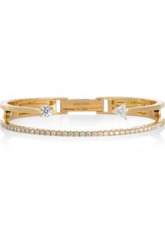 Delfina Delettrez | 18-karat gold diamond bracelet | NET-A-PORTER.COM