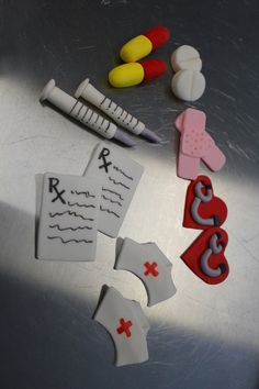 Fondant Cupcake Topper Nurse Cupcake Toppers  by ModernLuxeEvents  For my nursing school grad party!
