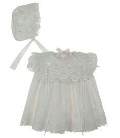 71223e087866 NEW C. I. Castro White Eyelet Embroidered Dress and Bonnet Set $65.00