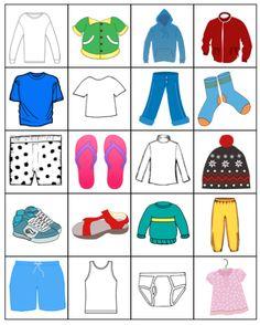 long sleeve shirts, coats, hoodies, t-shirts, pants, socks, boxers, flipflops, turtleneck, hat, sneakers, sandals, sweaters, bathing suit, tank top, underwear, dress Montessori Activities, Preschool Math, Mickey Coloring Pages, Lacing Cards, Flipflops, Boxer, Piece Of Clothing, Hoodies, Sweatshirts
