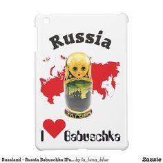 Russland - Russia Babuschka IPad Case Ipad Mini, Blue, La Luna, Matryoshka Doll, Russia