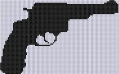 Gun 3 Cross Stitch Pattern  | Craftsy