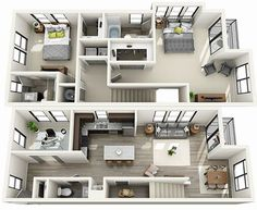 Floor Plans Archives - Main and Stone 3d House Plans, Small House Floor Plans, House Layout Plans, House Blueprints, Dream House Plans, Modern House Plans, House Layouts, House Floor Design, Pool House Designs