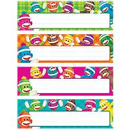 Sock Monkeys Desk Toppers® Name Plates Variety Pack | TRENDenterprises.com  These are the cutest!
