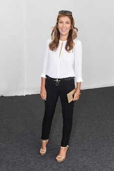 Love Nina's classic b&w ensemble!
