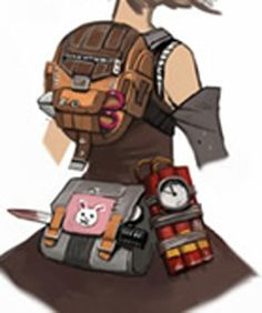 Borderlands 2 Cosplay Prop -- Tiny Tina Back Pack and Fanny Pack ...