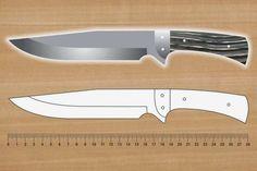 facón chico: Moldes de Cuchillos Knife Template, Blacksmithing Knives, Diy Knife, Knife Patterns, Blacksmith Forge, Combat Knives, Survival Shelter, Leather Holster, Knife Sheath