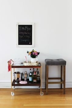 bar cart menu  #theeverygirl