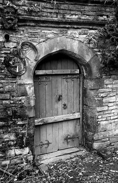 old door in the churchyard at Holy Trinity Church in Stratford-on-Avon