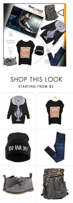 """Street Style with Banggood"" by shambala-379 ❤ liked on Polyvore featuring rag & bone, Dr. Martens, Bed