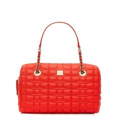 KATE SPADE Signature Spade Leather Maxie in flame or white out $428.00