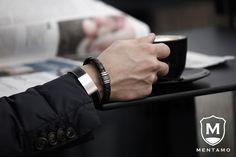 Minimal details for men, from Mentamo. Elegant, yet edgy and unique!   #mentamo #accessories #fashion #style #inspiration #minimal #details #male #bracelets #mens #bold #unique #original #leather #stylish #edgy #clean #design #eyecatching #barcelona #stockholm #menswear