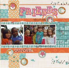Friends scrapbooking layout