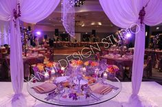Sweetheart table drapery