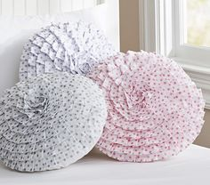 Ruffled Mini Dot Decorative Pillow