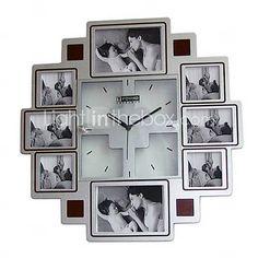 Decorative Clocks - Picture Frames Wall Clock - Modern Wall Clock with Picture Frame Wall Clock With Pictures, Big Wall Clocks, Wall Clock Online, Picture Frames, Picture Walls, Clock Decor, I Work Out, Well Dressed Men, Modern Wall