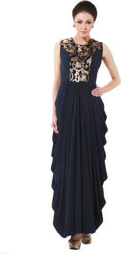 4eafc0428f40 Beau Cuts Women s Maxi Dress - Buy Navy Beau Cuts Women s Maxi Dress Online  at Best