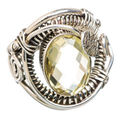 Ana Silver Co Lemon Quartz 925 Sterling Silver Ring Size 6 RING825593