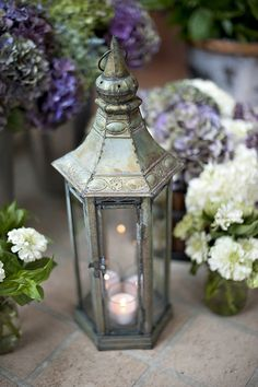 Lantern and flowers...
