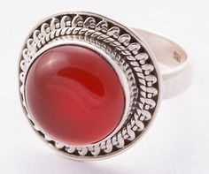 925 Sterling Silver Carnelian Ring MCR-4002 from Edelsteinschmuck by DaWanda.com
