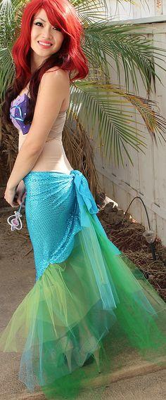 DIY Mermaid costume DIY ariel little mermaid costume for next year Costume Halloween, Disney Princess Halloween Costumes, Ariel Costumes, Halloween Fun, Couple Costumes, Pirate Costumes, Group Costumes, Couple Halloween, Adult Costumes
