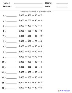 math worksheet : 1000 ideas about place value worksheets on pinterest  place  : Expanded Form Math Worksheets