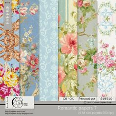 CAJOLINE-SCRAP: Freebie - CU Romantic papers 7
