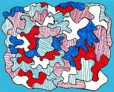 contraste de couleurs - Dubuffet