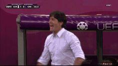 Joachim Löw celebrates Lahm's goal. Animated gif. 22-06-'12 || EuroCup, Euro 2012