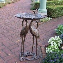 Unique Bird Bath | Unique bronze bird bath.