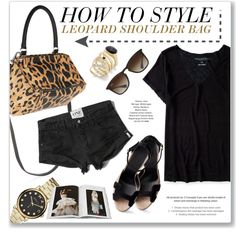 How to style - Leopard Bag by monmondefou on Polyvore featuring Aéropostale, Abercrombie & Fitch, Hermès, Givenchy, Marc by Marc Jacobs, Thalia Sodi, Ray-Ban, Abrams, black and prints