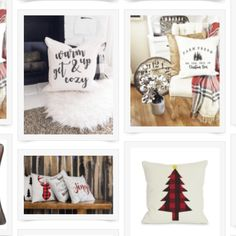 Farmhouse Style Christmas Pillows