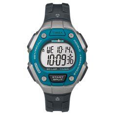 Women's Timex Ironman Classic 30 Lap Digital Watch - Black/Blue TW5K893009J, Multi-Colored