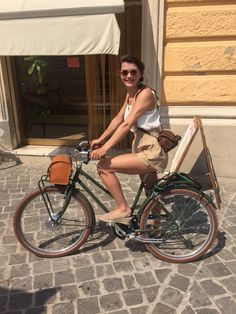 """After one year Lydia writes """"I use the bike a lot and I am enjoying it very much!""""  And this picture is the proof, thank you Lydia Emoticon smile  A happy customer is our best reward.  #ebike #vintage  www.velorapida.com"""