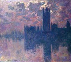 Claude Monet - Le Parlement, soleil couchant