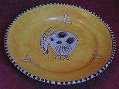Rare superbe assiette céramique italie décors a la chèvre style picasso vietri - Sortir de l'Auberge