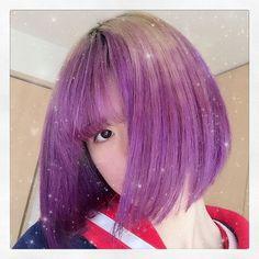 WEBSTA @ poppysugar - 💜Hey, you must check my new violet hair💜*Finally I dyed my hair violet.*思い切って#マニックパニック を買って、自分で髪染めてみた、念願の#パープル #ヘアカラー 💜💜*#violetnight#manicpanic#haircolor#purple#violet#larme#lavender#kawaii#girly#girl#bob#amazing#fashion#loveit*#かわいい#ガーリー#派手髪#ファッション#おしゃれ#ゆめかわいい#ヴァイオレット