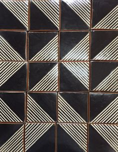 Tiles lines half triangle square Grafico 2 in charcoal on off white Floor Patterns, Tile Patterns, Textures Patterns, Tribal Patterns, Black And White Tiles Bathroom, Black Tiles, Black And White Flooring, Floor Texture, Stone Tiles