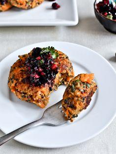 Sweet Potato Quinoa Cakes With Blackberry Salsa