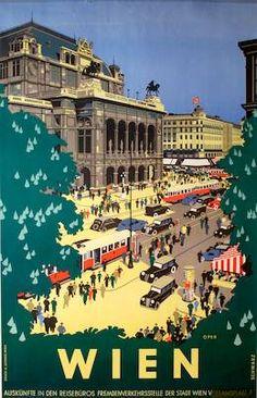 ... wien poster by schwarz, 1942.