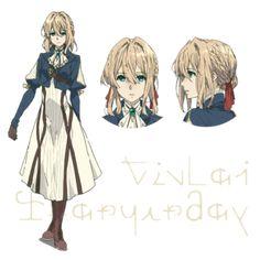 Violet Evergarden Anime Reveals Character Designs