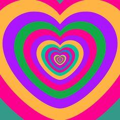 i love you hearts GIF by Feliks Tomasz Konczakowski - Find & Share on GIPHY Rainbow Aesthetic, Aesthetic Gif, Retro Aesthetic, Aesthetic Pictures, Live Wallpaper Iphone, Aesthetic Iphone Wallpaper, Gifs, Overlays Picsart, Heart Gif