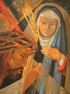 Jean Abadie, Jésus rencontre sa Sainte Mère...