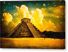 Chichen Itza Canvas Print featuring Mysteries Of The Ancient Maya - Chichen Itza by Mark E Tisdale