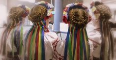 Braided hair with Vinoks - my grandmother used to do my hair just like this!