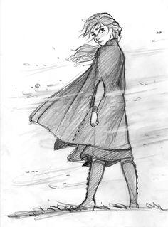 CosmoAnimato - Anna in Frozen 2 Disney Concept Art, Disney Fan Art, Anna Concept Art, Punk Disney, Disney Sketches, Disney Drawings, Frozen Drawings, Anna Frozen Drawing, Character Art