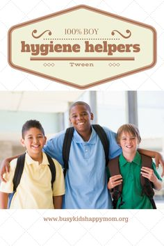 Tween boy hygiene tips. From teeth to skin to hair. From Busy Kids Happy Mom.