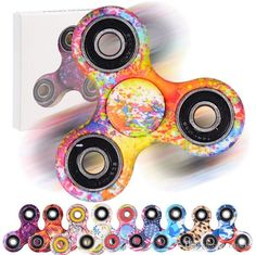 Colorful Fidget Spinner EDC Hand Spinner No Rust Anxiety Toys Finger Tip Sprial DHL Free Shipping